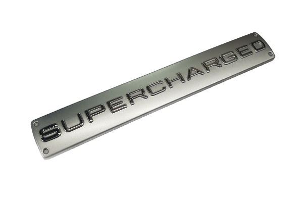 Silver Supercharged Emblem
